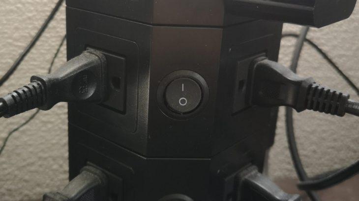 [レビュー]タワー型電源タップ Powerjc